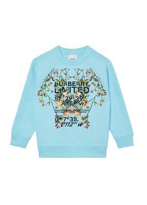 Montage Print Cotton Sweatshirt