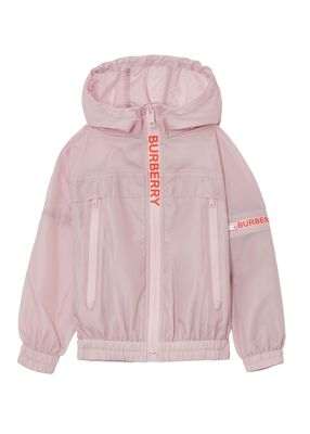 Logo Print Lightweight Hooded Jacket