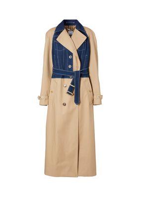 Panelled Cotton Gabardine Trench Coat