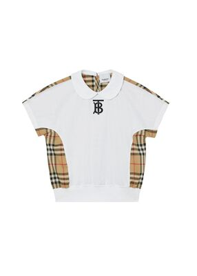 Monogram Motif Vintage Check Panel Cotton T-shirt