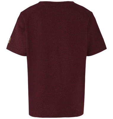 Platform 9 3/4 Marl T-Shirt - Burgundy - Extra Small, , hi-res